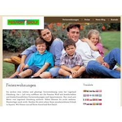 Homepage-Erstellung Logo-Entwicklung für Pension Wolf