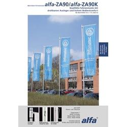 Flyer-Erstellung für Firma Alfa