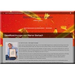 Künstler-Homepage erstellen für Bleistiftzeichnungen Bierbach