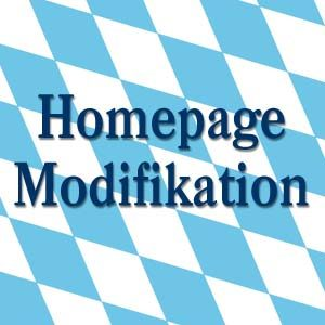 Homepage Modifikation