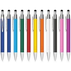 Metall-Kugelschreiber Touchpoint gummiert